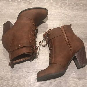 Brown booties by Shoe Dazzle
